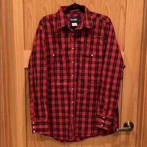 Wrangler Western Plaid Snap Shirt